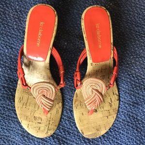 Darling Orange Liz Claiborne Sandals